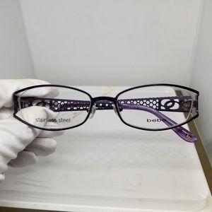 Bebe Dreamy Eyeglass Frame in Plum with Sparkles